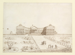 Front or North-east view of Government House, Calcutta